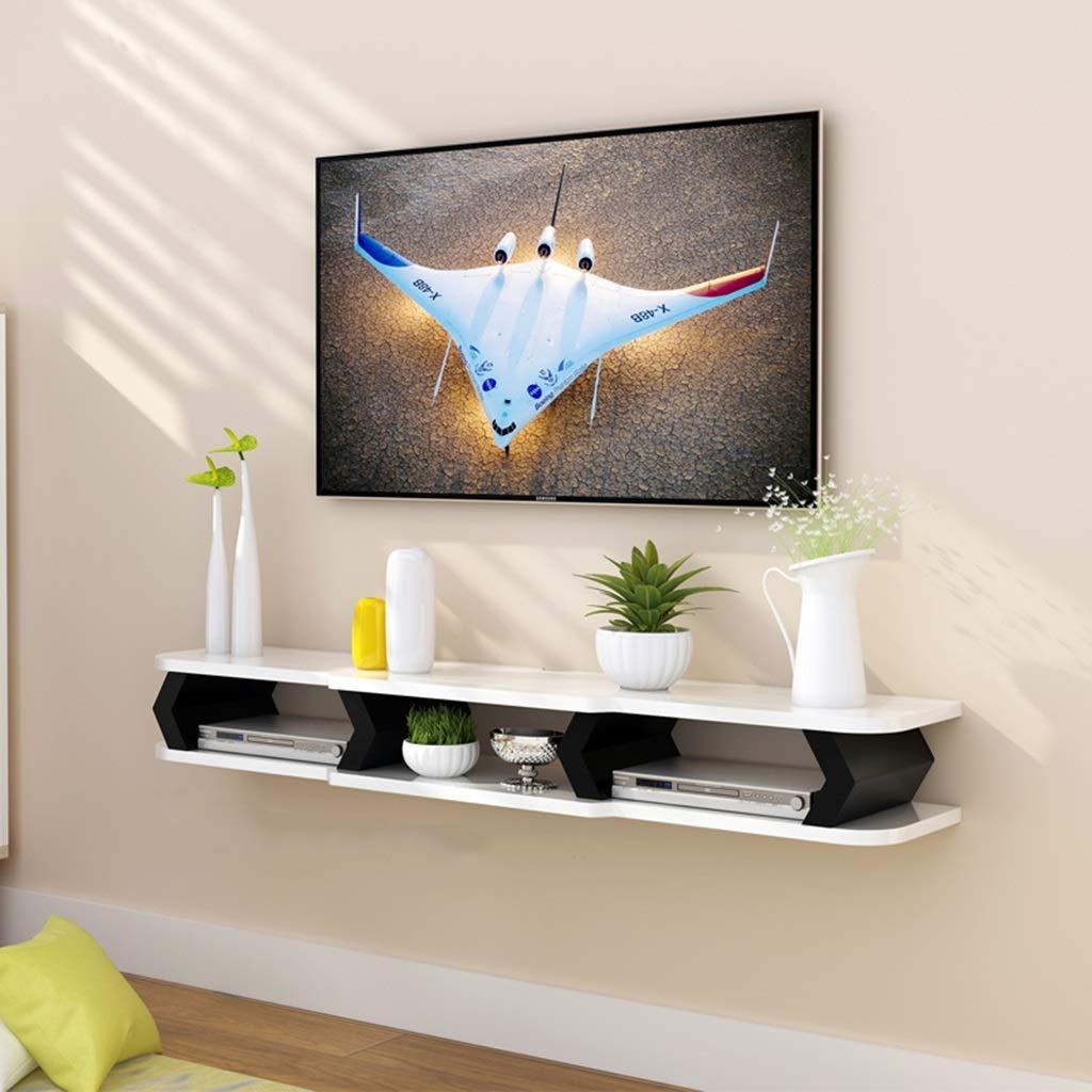 フローティングシェルフ 壁掛けテレビキャビネットフローティング棚メディアコンソールフローティングテレビ棚テレビスタンドホームメディアエンターテイメント収納棚ゲームコンソールセットトップボックス棚用リビングルーム (色 : B, サイズ さいず : 130×22×15cm) B07RSX6NRL B 130×22×15cm