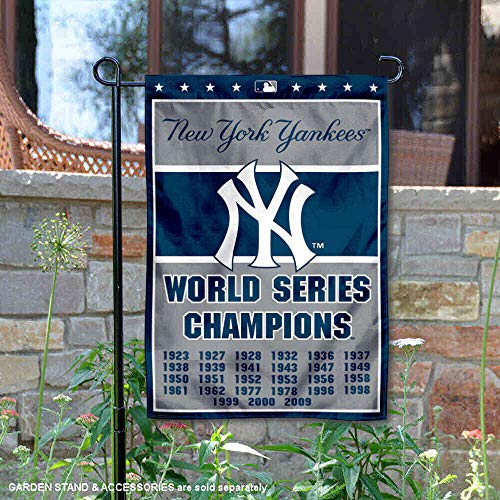 (WinCraft New York Yankees 27-Time World Series Champions Double Sided Garden Flag)
