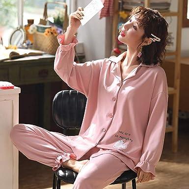 Primavera y otoño, Pijama de algodón de Manga Larga, Lindo ...