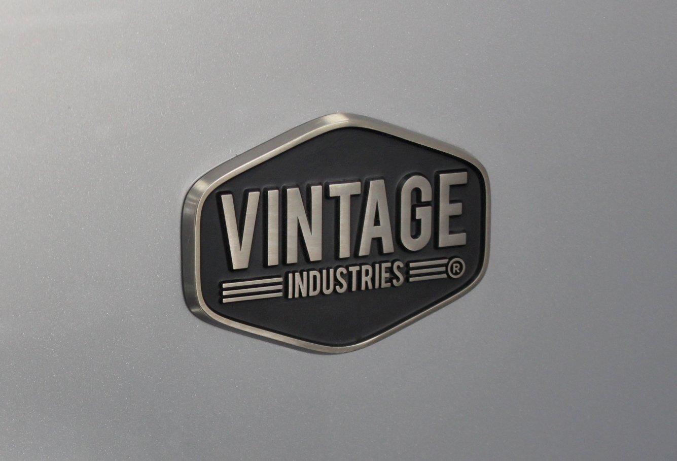 Vintage Industries Kühlschrank : Vintage industries mini retro kühlschrank miami in silber