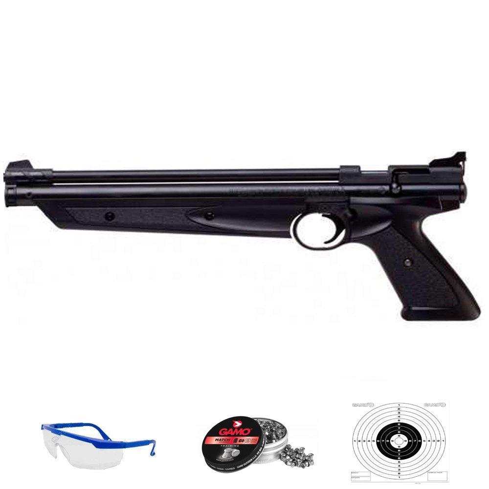 PACK pistola de aire comprimido Crosman American Clasic - Arma de CO2 y balines (perdigones de plomo) [Calibre 4.5mm y 5,5mm] 5mm]