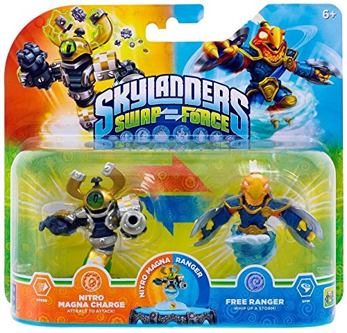 Skylanders Swap Force Double Pack - Exclusive Nitro Magna Charge + Free Ranger (Xbox 360/PS3/Wii U/Wii/3DS) -