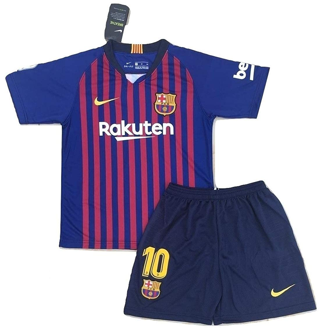 premium selection 3d05e bcb34 Messi #10 New 2018-2019 FC Barcelona Home Jersey & Shorts for Kids/Youth