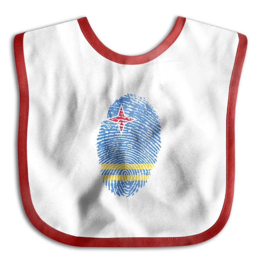 Marima Aruba Flag Fingerprint Personalized Scarf Bib Feeding /& Teething Fancy Baby Bibs and Burp Cloth Polyester Cotton