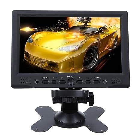 Monitor LCD portátil Minidiva de 7 pulgadas HD 1080P HDMI AV VGA para coche