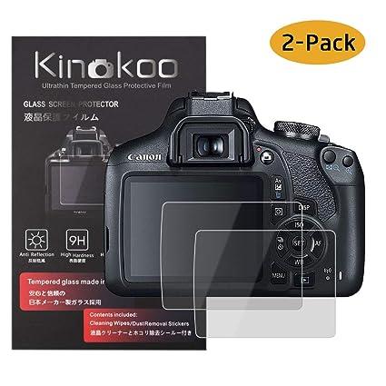 kinokoo Película de Vidrio Templado para Canon EOS 1200D/1300D ...