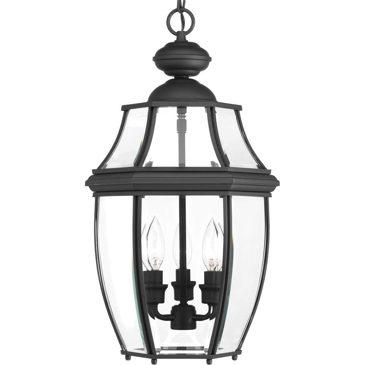 Progress Lighting P6533-31 New Haven Three-Light Hanging Lantern, Stainless Steel