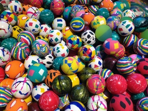 500 Premium Quality 27mm 1'' Super Bouncy Balls by Wholesale Vending Products (Image #1)