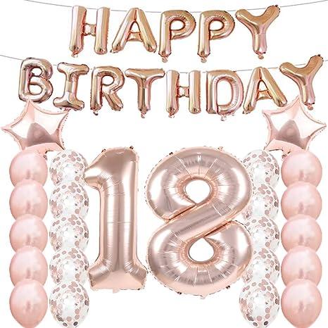 Amazon.com: 18 cumpleaños decoraciones suministros de fiesta ...