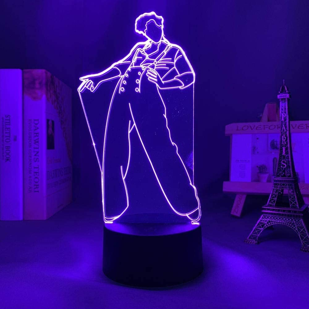 3D Anime Night Light Illusion Led Harry Styles Lamp Gift for Fans Bedroom Decor Light Remote Control Sensor Color Changing Work Desk Lamp