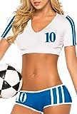 Aimerfeel sexy England footballer fancy dress uniform. Size 8-10
