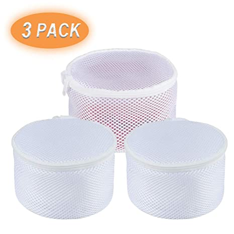 3PCS Zipped Laundry Washing Net Mesh Bra Socks Underwear Machine Wash washer Bag