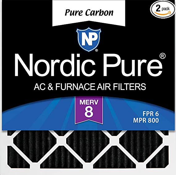 Nordic Pure 14x36x1 Exact MERV 8 Pure Carbon Pleated Odor Reduction AC Furnace Air Filters 1 Pack,