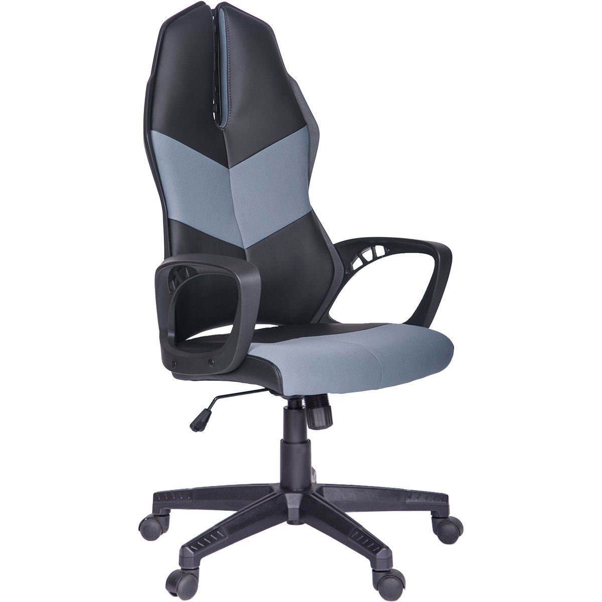 Office Chair,Game Chair Racing Style with Soft PU Leather and Mesh Fabric (Blue)