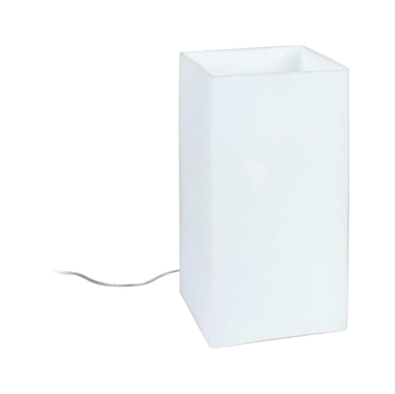 Cromo Paulmann 77029 Pinja-L/ámpara de Mesa de 3 encendidos t/áctil E14 Color blanco 0 W 11 x 11 x 24 cm