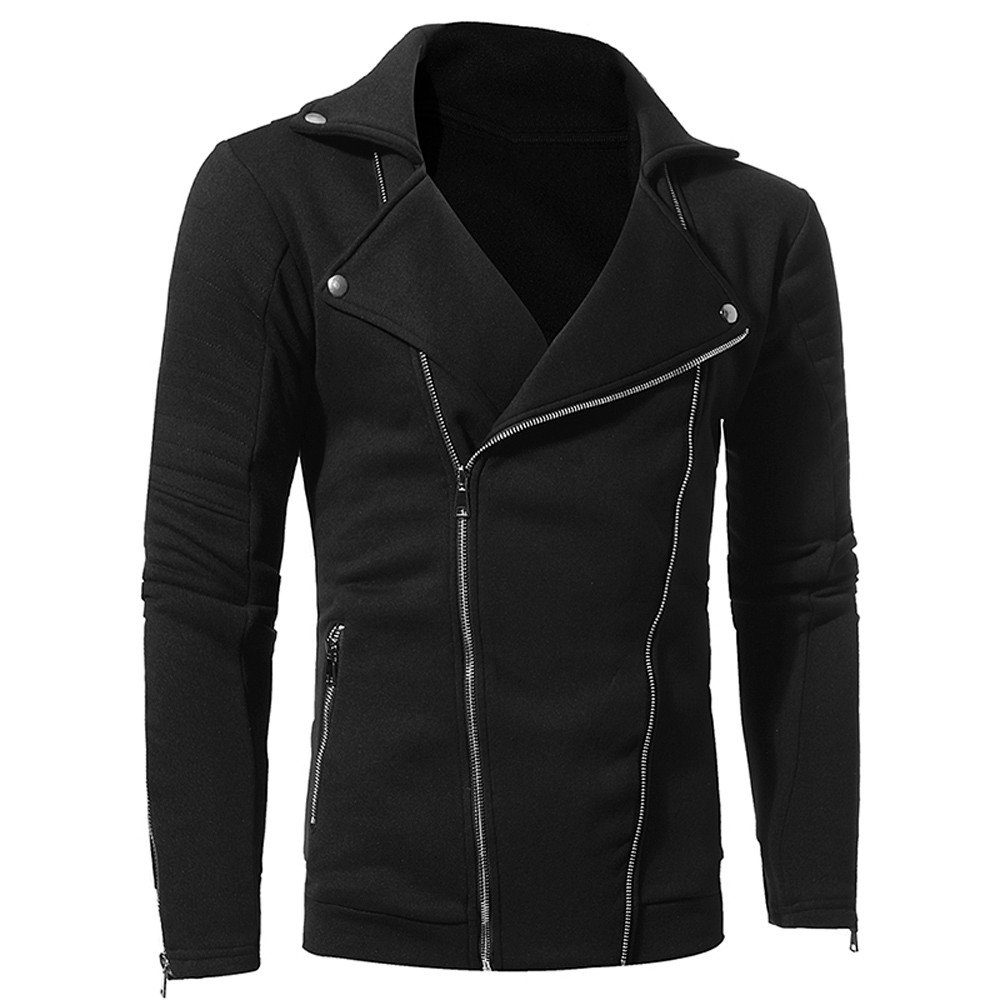 Jackets for Men MISYYA Zipper Jacket Sport Outwear Solid Sweatshirt Tight Shirts Friends Gifts Only Left Mens Tops