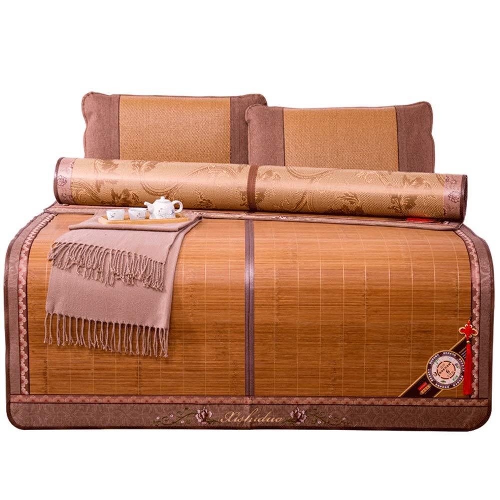 1.35x1.95m Cooling Topper mat Mattress Mattresses Cooling Bedding Bamboo Mat Summer Sleeping Mats Bed-mat Bedroom Student Dorm Room Foldable with Pillowcase 7 Sizes (Size   1.35x1.95m)