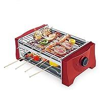 Special Grill kleiner rot Exclusive Camping Balkon Picknick ✔ eckig ✔ tragbar ✔ Grillen mit Holzkohle ✔ für den Tisch
