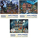 Bits and Pieces - Value Set of 3 1000 Piece Jigsaw Puzzles for Adults - Each Puzzle Measures 20 Inch x 27 Inch - 1000 pc Goblins and...