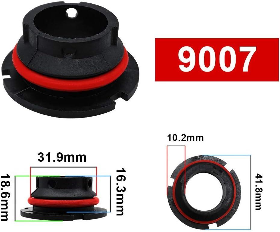 H4 2PCS Adapter Holder Base Sockets Retainer for Car LED Headlight Bulb