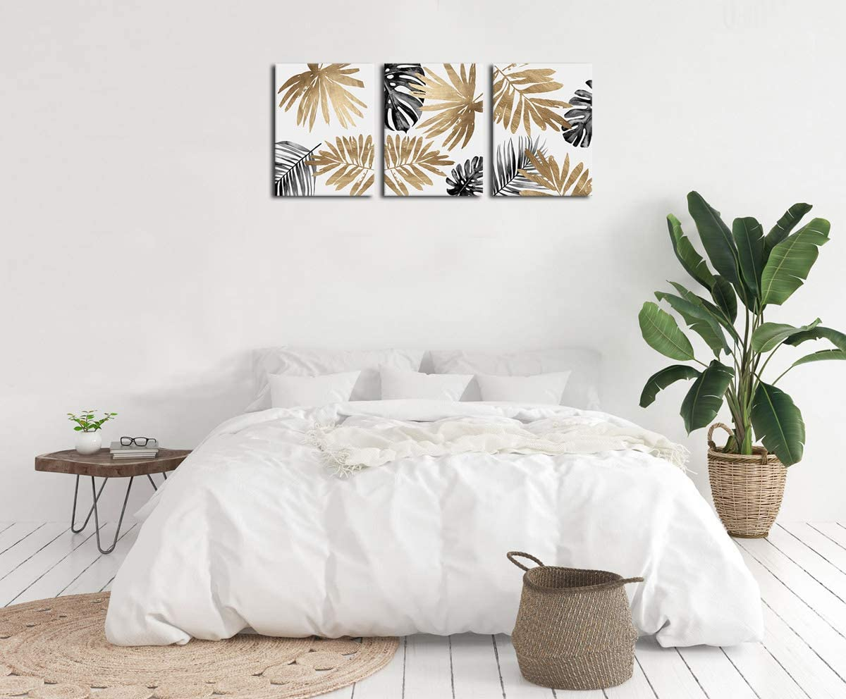 Leaf Wall Art Bedroom Wall Decor Modern Canvas Pictures