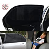 ieGeek Car Sun Shades Cover for Car Window To Protect Your Baby, Children, Kids, Pet from Sun- Block UV Rays - 1 Set (2 pieces) - Fits Most Cars - without Clings or Suction Cups, Easy & Flexible to Use