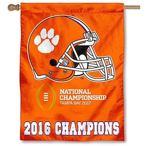 Ncaa National Championship Banner - Clemson 2016 National Championship House Flag Banner
