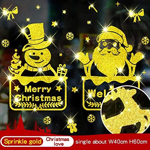 ZRSCL Golden Flash Reflective Christmas Wall Sticker 2020 Decoraciones navideñas para el hogar Ventana Accesorios de vidrio 23 tipos de calcomanía de vidrio40CMX60CM: Amazon.es: Bricolaje y herramientas