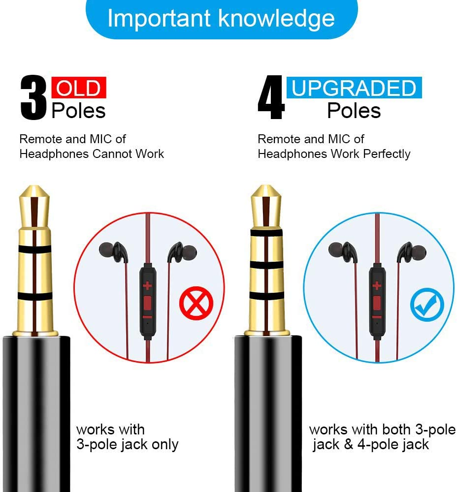 Phone 3.5mm Stereo Audio Male to 2 Female Separate Audio Microphone Plugs Compatible for PS4 Controller Laptop Headset Adapter Headphone Mic Y Splitter Cable Xbox One PC Gaming Headset