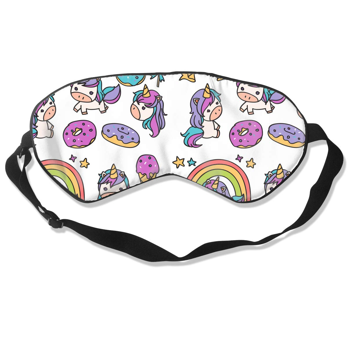 Unicorn Queen Natural Silk Sleep Mask with Adjustable Strap