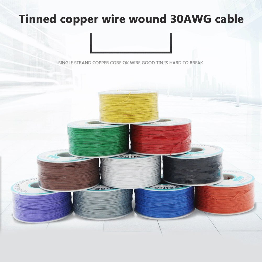 1000tin Plaqu/é Fil de cuivre Emballage 30/AWG C/âble 305/m Cutogain Breadboard P//N B-30