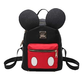 Pteng Mochila de Mickey Mouse Mochilas de Mujer Bolsos Escolar Bolsa de Nylon Elegante Backpack studentesca la Escuela Media eleganti Originales Daypack ...