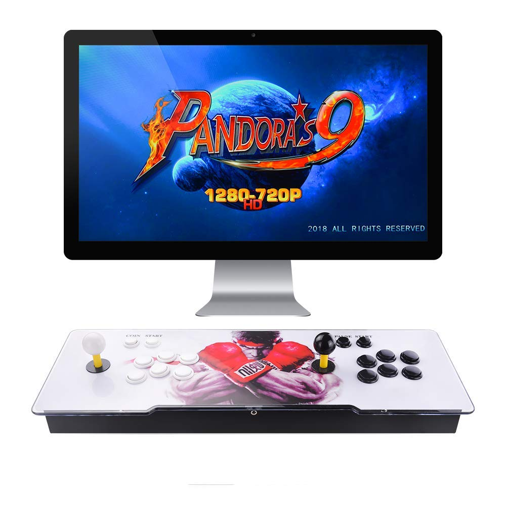 TAPDRA Pandora's Box 9 Multiplayer Joystick and Buttons Arcade Console, Cabinet Games Machines for Home, 1500 Retro Classic Video Games, Newest System with Advanced CPU, Compatible with HDMI (Grey) by TAPDRA (Image #1)