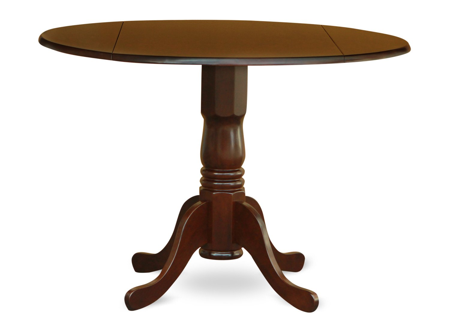 Amazoncom East West Furniture DLTMAHTP Round Table With Two - Round pedestal dining table set with leaf