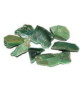 R.R. SHEIKH GEMS Natural Green Jade Rough Raw Rock Healing Crystal Gemstones