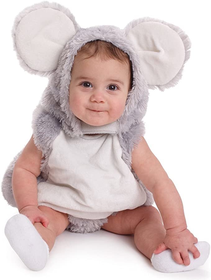 Dress Up America Infant Toddlers Baby Squeaky Mouse Halloween Pretend Play Costume