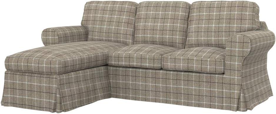 Soferia Funda de repuesto para sofá de 2 plazas IKEA EKTORP con chaise longue: Amazon.es: Hogar