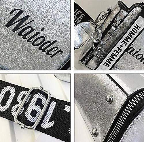 Tote À Messenger Femme Color Pour White Fourre Imprimer Bandoulière tout Double Zipper Eshoping Sac APqTnwAa