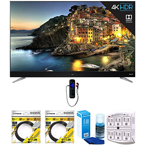 TCL 55 Inch 4K UHD Dolby Vision Roku Smart LED TV w/ WiFi &