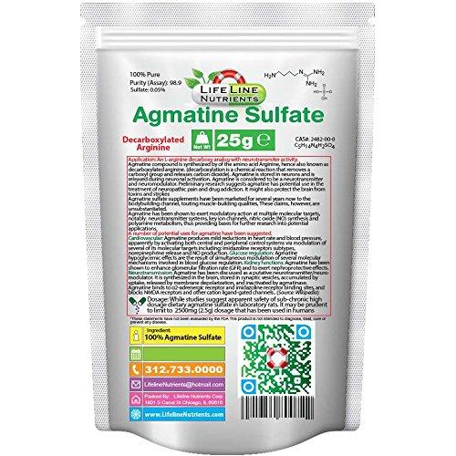 25g, poudre 100 % Pure Agmatine Sulfate - livraison gratuite