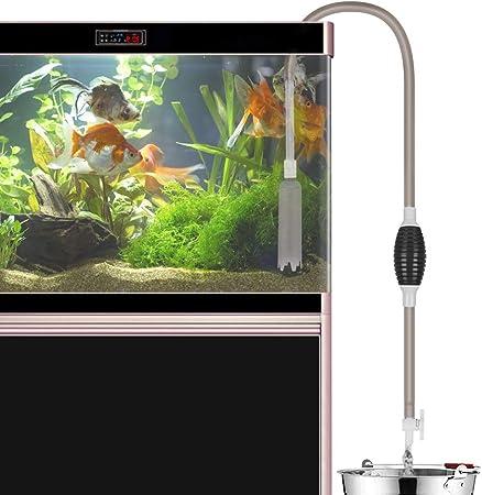 Laelr Limpiador de tanque de peces, bomba de vacío que cambia de agua, arena y lavado, flujo de agua ajustable con válvula de salida de colador incorporada, bolsa de aire: Amazon.es: Salud