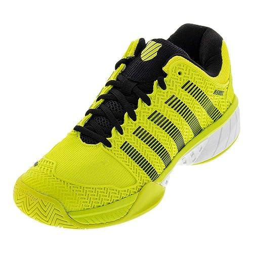 cheap for discount 75b55 13f37 K-Swiss Men s Hypercourt Express Tennis Shoe, Neon Yellow Black White (