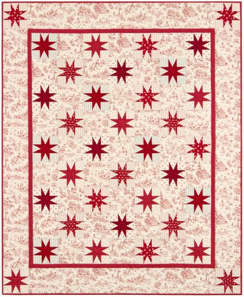 - Toile Stars by Betsy's Basket Quilt Kit 56 x 68 Cotton Fabric by Kaufman