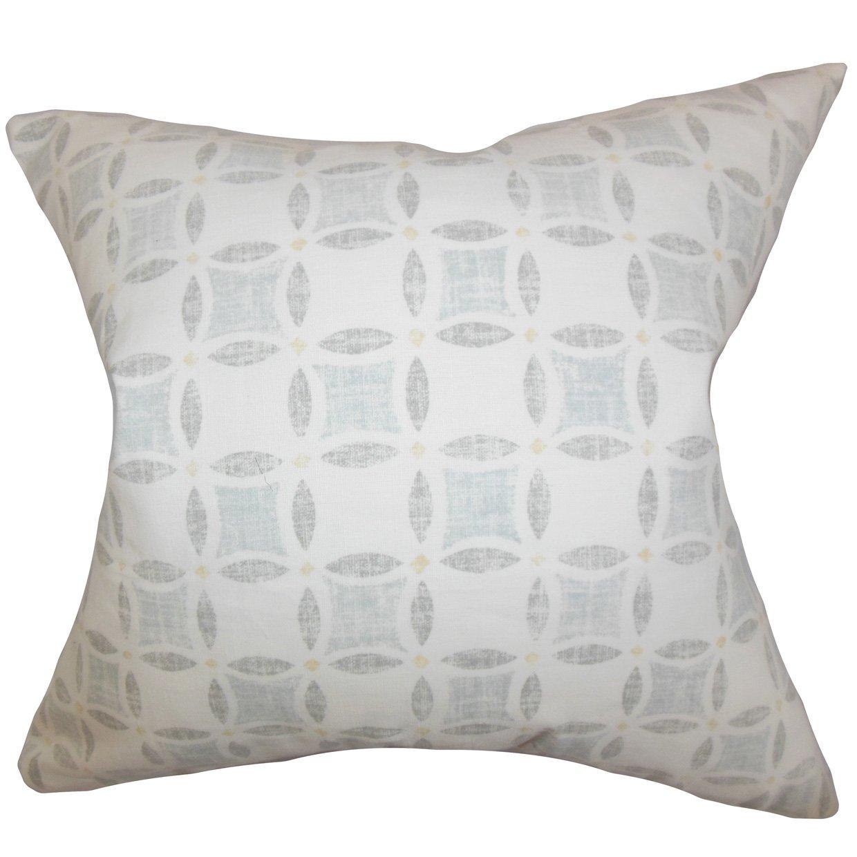 The枕コレクションp20-pt-yorkville-chambray-l100 Jeune幾何枕、グレー、20