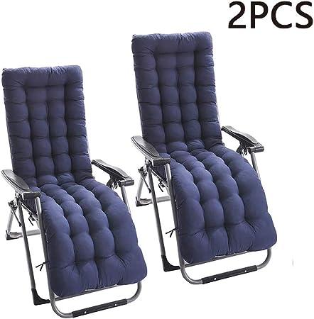2 cojines para tumbonas, cojines para tumbonas, para exteriores, jardín, tumbona reclinable, para interiores, azul, 48*120cm: Amazon.es: Hogar