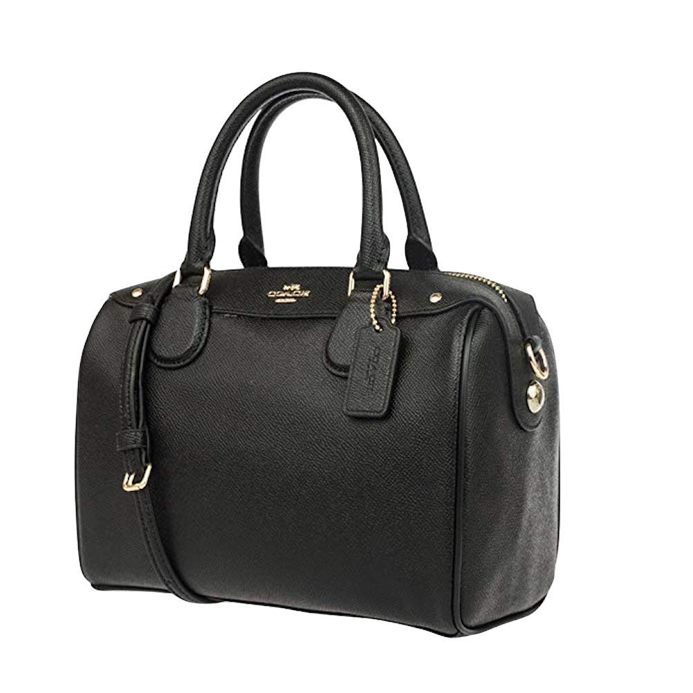 COACH MINI BENNETT SATCHEL IN CROSSGRAIN LEATHER (Black)