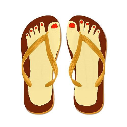 d06030bc0 CafePress - Ugly Feet - Flip Flops