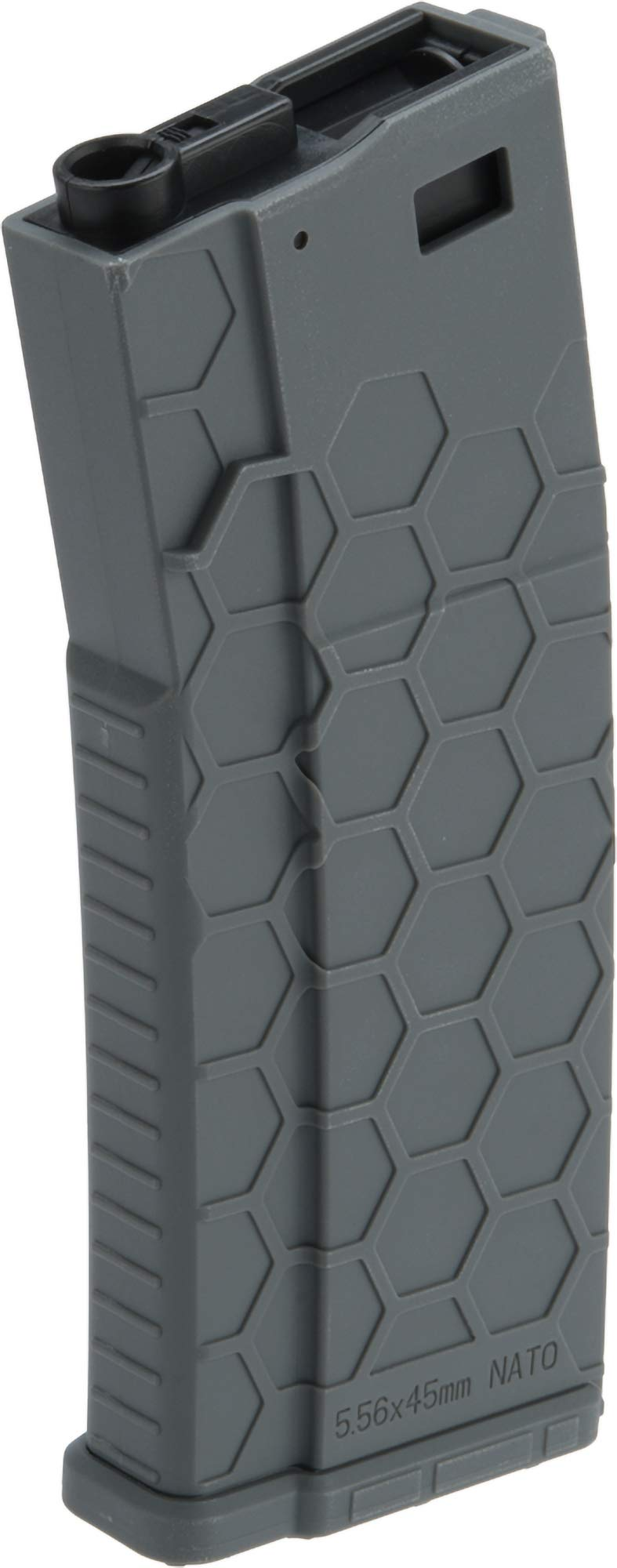 Evike Hexmag Airsoft Polymer 300rd FlashMag Magazine for M4 / M16 Series Airsoft AEG Rifles (Color: Grey/Single) by Evike