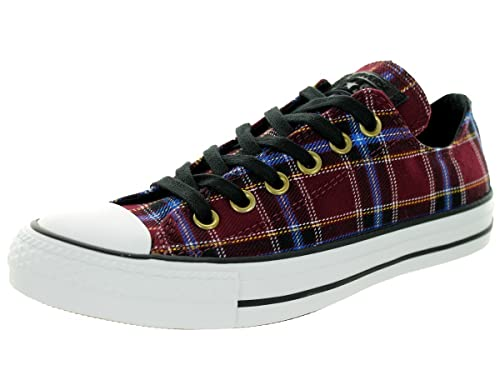 42229478bbe5 Converse Chuck Taylor All Star Plaid Ox Sneaker Shoe - Womens  Bordeaux White 6 B(M) US Women   4 D(M) US Men  Buy Online at Low Prices in  India - Amazon.in