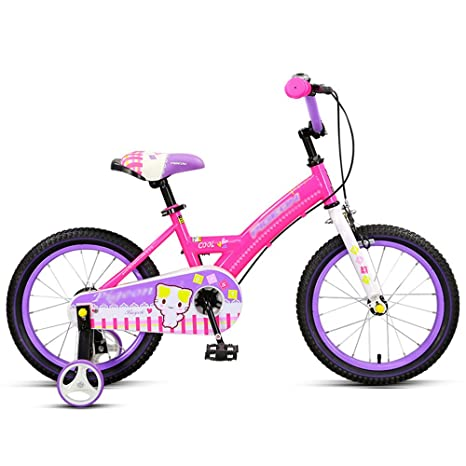 Bicicletas YANFEI Niños Niño Y Niña con Ruedas De Entrenamiento 14 Pulgadas, 16 Pulgadas Excursión